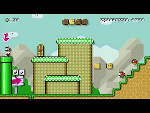 Massive Mountain Mayhem by Juan Pablo - Super Mario Maker - No Commentary