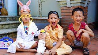 Trò Chơi Khám Bệnh Cho Người Bị Thương - Bé Nhím TV - Đồ Chơi Trẻ Em Thiếu Nhi