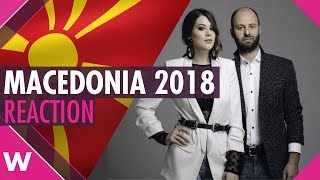 "Macedonia | Eurovision 2018 reaction video | Eye Cue ""Lost and Found"""
