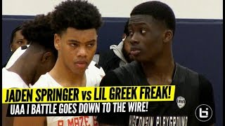 Lil Greek Freak vs Jaden Springer! UAA Battle Goes Down to the Wire! Full Highlights!