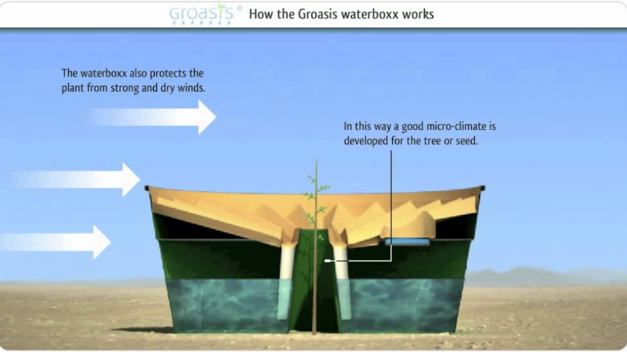 how does the groasis waterboxx work against desertification   with music