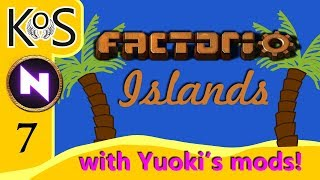 Factorio Islands! Ep 7: THE MAGNIFICENT MALL - Yuoki modded coop MP Gameplay, Let's Play