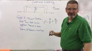 Solids: Lesson 37 - Combined Loading Intro Problem