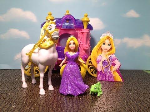 TANGLED'S RAPUNZEL MAGICLIP Disney Princess Rapunzel Royal Carriage Toy Review