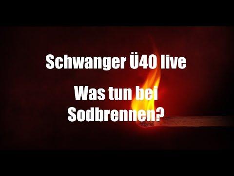 Schwanger über 40 live: Was tun bei  Sodbrennen?