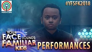 Your Face Sounds Familiar Kids 2018: Esang De Torres as John Legend | All Of Me