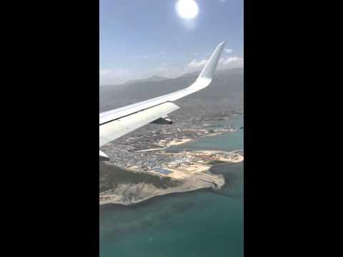 Landing in Port au Prince ,Haiti.