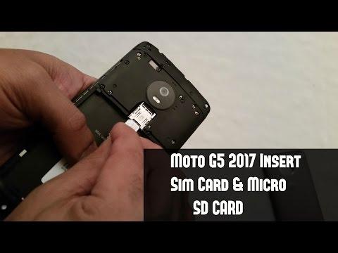 Moto G5 2017 (Insert Sim Card & Micro SD Card)