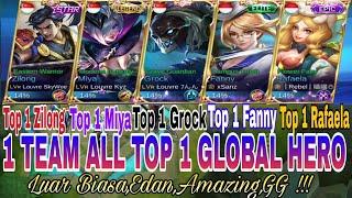 Download Lagu Begini Jadinya kalo 1 TEAM Isinya Top 1 Global Hero Semua(Top 1 Zilong,Miya,Fanny,Grock,Rafaela) GG Gratis STAFABAND