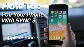 How to Bluetooth Pair Your iPhone w/ SYNC 3 | 2018 Tutorial