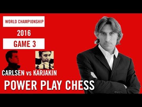 World Chess Championship 2016 Carlsen v Karjakin Game 3