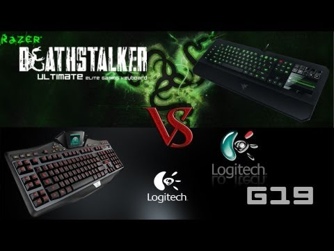Razer DeathStalker Ultimate VS Logitech G19      Gaming Keyboard Review