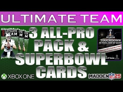 Superbowl CoinUp All Pro Pack Opening Madden 25 Ultimate Team LombardiUp Collectibles