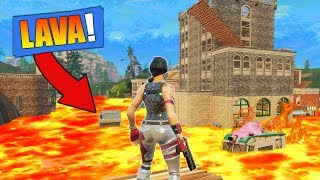 THE FLOOR IS LAVA CHALLENGE In The *New* City! [Fortnite]