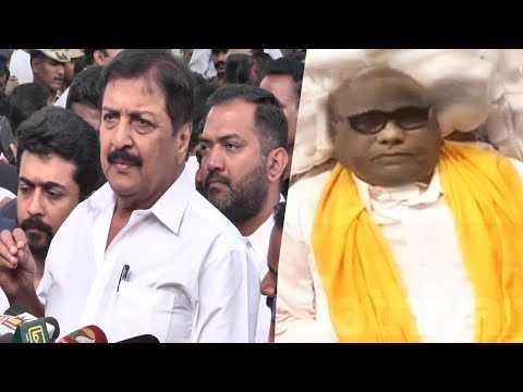 Actor Sivakumar & Suriya Emotional Condolence Speech | Karunanidhi | Rajaji Hall