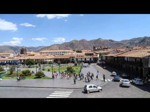 Time lapse of Cusco square, Peru