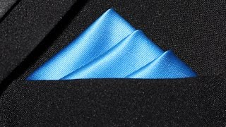 How To Fold a Pocket Square - Three Stairs Fold