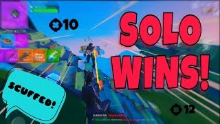 Fortnite Mobile Solo wins | Scuffed Gameplay :(( | IPad Pro 2018 *60 FPS* HD