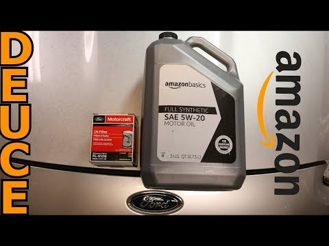 Amazon Basics Motor Oil Change and Review