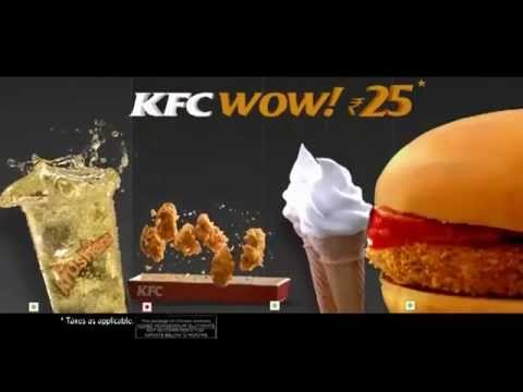 KFC Latest Advertisement - WOW @ Rs 25