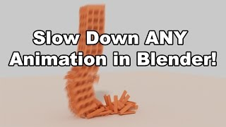 Learn Blender Fast: Slow Down ANY Animation in Under 60 Seconds
