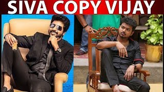 Sivakarthikeyan got insulted by copying Vijay