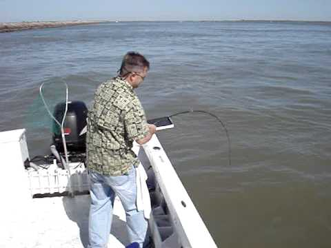 Braided line vs. Jack Fish, Port O'Connor TX April 09
