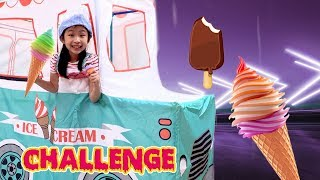 Pretend Play with ICE CREAM Drive Thru Toy Store Challenge