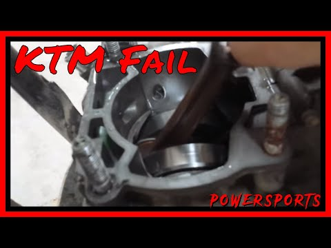 KTM Crank Bearing Failure At Top Speed - FML - Splitting The Cases (Preview)