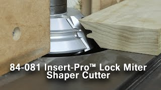 Super-Strong Mitered Corners with the Insert-Pro Lock Miter Shaper Cutter