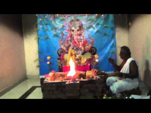 Ganesha Chaturthi Maha Ganapathi Homam Part 1 video