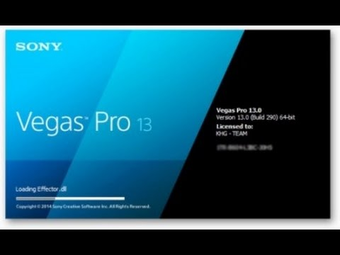 Как установить Sony Vegas Pro 13.0 (64 bit) .