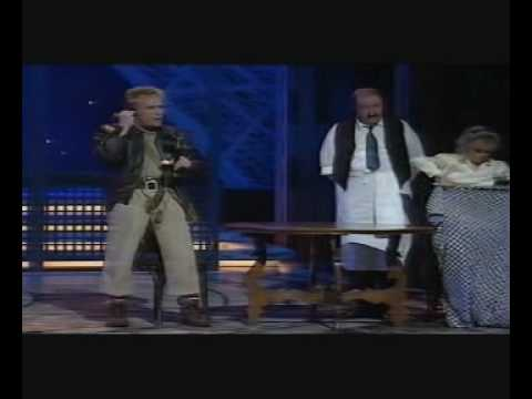 Billy Pearce, Gorden Kaye and Sue Hodge ('Allo' Allo) perform Be Our Guest Royal Variety #NSPCC