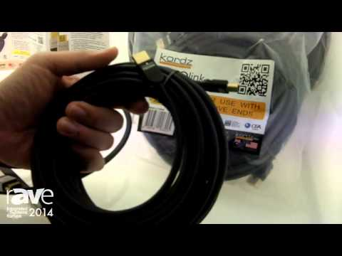 ISE 2014: Kordz Shows Off Its 4K HDMI Cable at the HD Connectivity Stand