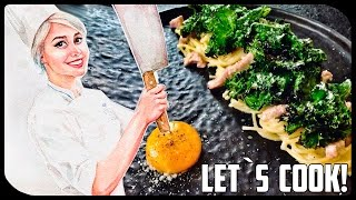✿ LET`S COOK ✿ Спагетти Карбонара с капустой Кейл ♥
