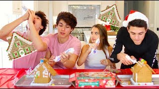 Gingerbread House Challenge!! (Me and Brent vs. Twins)