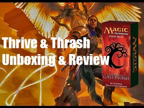 Gatecrash Event Deck: Thrive & Thrash- Unboxing & Review