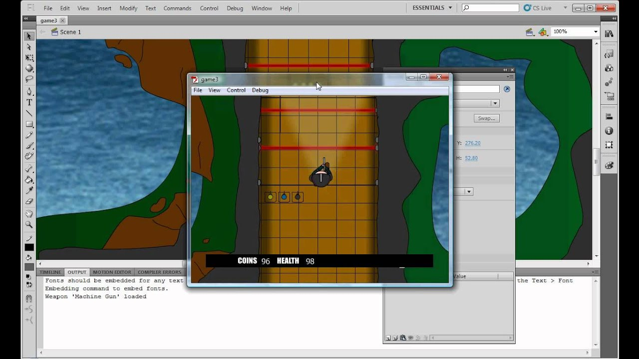 Flash, CS5.5, Shooting, Game, Tutorial, Basic, Animations, Actionscript 2,