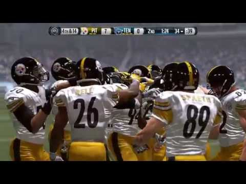 NFL 2014 MNF Week 11 - Pittsburgh Steelers vs Tennessee Titans - 1st Half - Madden 15 PS4 - HD