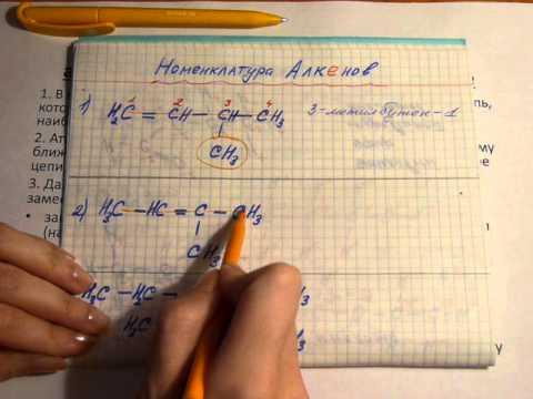 Номенклатура Алкенов и Алкинов. Органическая химия. ЕГЭ.