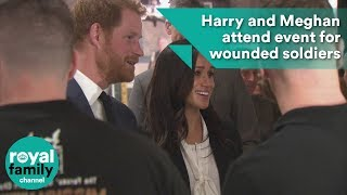 Harry and Meghan attend event for wounded soldiers