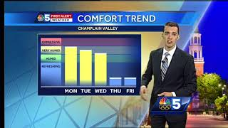 Video: Sunny, hot and humid Monday (9-25-17)