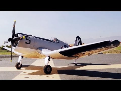 Super Detailed World War 2 Remote Control F4U Corsair Warbird by Airfield RC