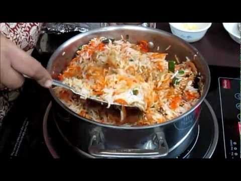 Chicken Biryani Recipe in Hindi (with Annotations in English) [HD]