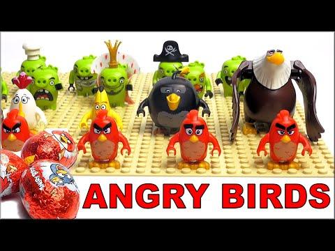LEGO angry birds в кино - все минифигурки лего по мультику Энгри Бердс в кино. Лего Злые Птички