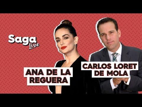 #SagaLive Ana de la Reguera y Carlos Loret con Adela Micha
