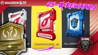 25-0 Rewards! 8 Touchdown Packs For Andrew Luck! Madden 20 Ultimate Team