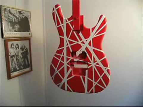 HOW TO PAINT A 5150 VAN HALEN GUITAR PROJECT EVH PART 1 OF 3