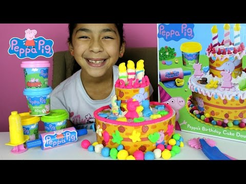 Tuesday Play Doh Peppa Pig Cake| Peppa's Birthday Dough Set | B2cutecupcakes