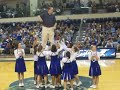 PCC CHEERLEADERS LIFT PASTOR JACKSON DURING HALFTIME
